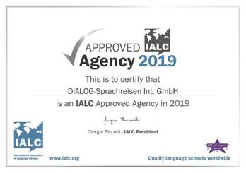 DIALOG Zertifikat IALC Approved Agency 2019
