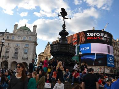 Piccadilly Circus, Englisch Sprachreisen London City Oxford Street
