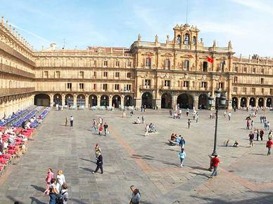 Plaza Mayor in Salamanca - Spanisch Sprachreisen