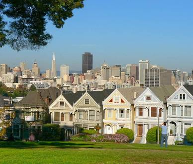 Painted Ladies, San Francisco - Englisch Sprachreisen in die USA